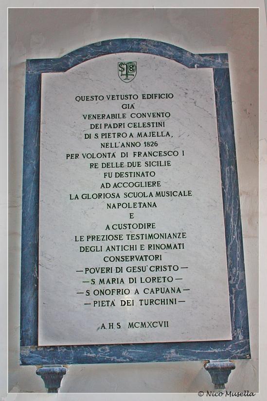 lastra commemorativa del conservatorio musicale a san pietro a majella